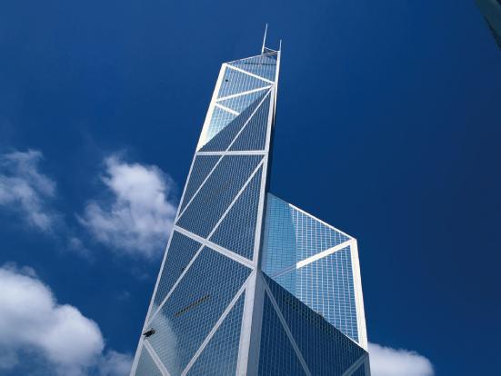 1,香港中银大厦 2,首都机场信息指挥中心 3,美国驻中国大使馆 4,上海